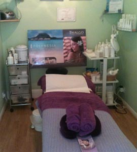 A treatment room in the salon